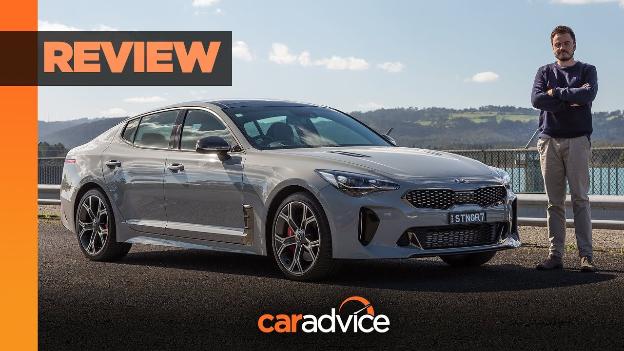 2020 kia stinger gt review  with exhaust upgrade