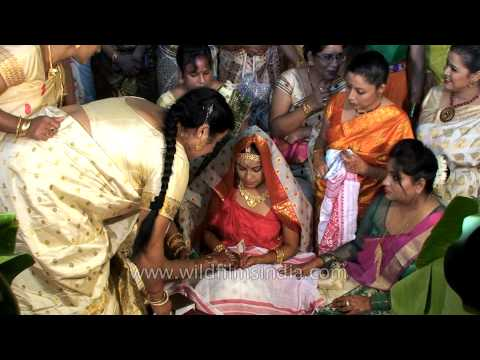 Showering the bride with gifts: Assamese