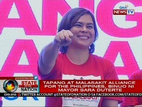 Tapang at Malasakit Alliance for the Philippines, binuo ni mayor Sara Duterte