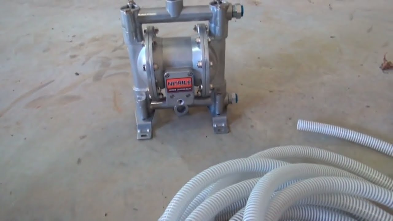 Double diaphragm pump for waste oil youtube double diaphragm pump for waste oil ccuart Gallery