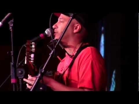 Tom Morello plays a Union Song in Madison, Wisconsin Feb. 21, 2011.