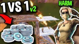 1 VS 1 AGAINST HARM'S REMATCH (WINNER GETS V-BUCKS)   Fortnite