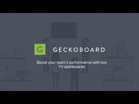 Focus teams on key metrics with TV dashboards from Geckoboard