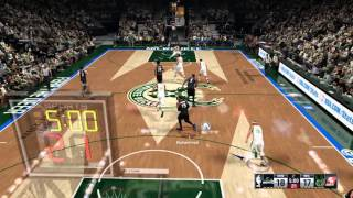 [NBA 2k16 PS4] Wiggins blocks and scores with shake 'n' bake