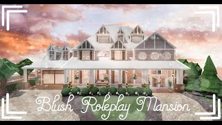Bloxburg   Blush Roleplay Mansion   All Game Pass   Speed Build   617k