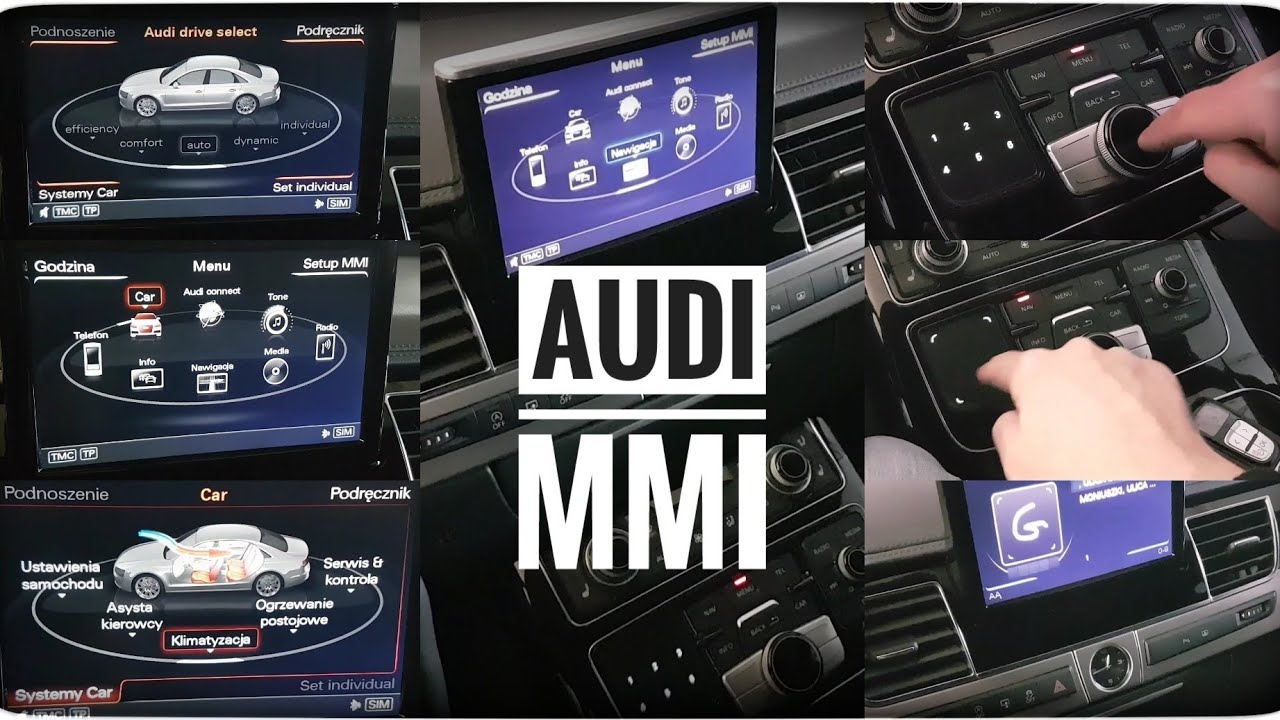 Jak działa system MMI w Audi A8 ? Multi Media Interface (USB Navi Radio Telephone Car Info Settings)