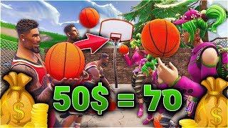 מי שמכניס יותר סלים בפורטנייט מקבל 50$! תחרות *כדורסל* בפורטנייט! (Fortnite Battle Royale)