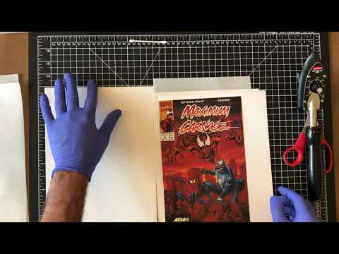 Advanced methods for comic book pressing and dent removal - Acclaim Maximum Carnage 1