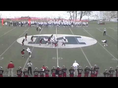 Madison Leary New York Maritime College Football Highlights 2011