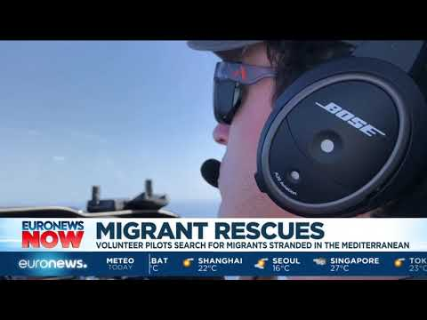#EuronewsNow |  Volunteer pilots search for migrants stranded in the Mediterranean