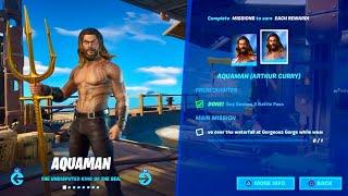 Fortnite How to do Aquaman Challenge Week 1