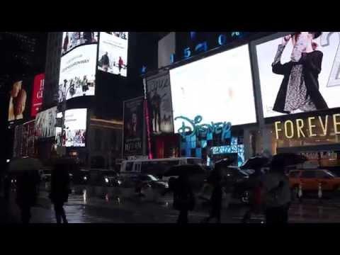 Rainy night, Time Square, Dec, 2014