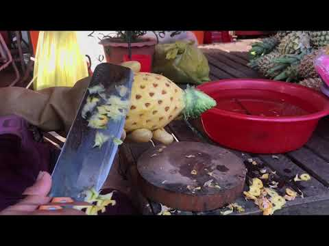 how to cut pineapple - The right way !!