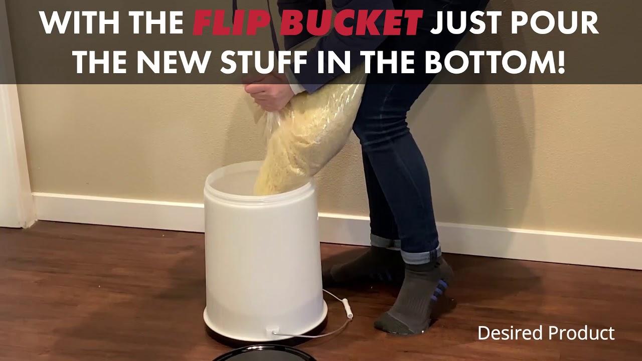 Prepper's Food Storage Flip Bucket
