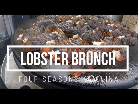 Best Lobster Sunday Brunch Four Seasons Ko`olina Oahu Hawaii Food