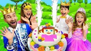 ساشا تستعد كعكة والمفاجآت لعيد ميلاد الأب