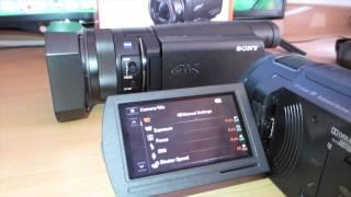 sony FDR-AX33 Vs. Sony FDR-AX100 Review