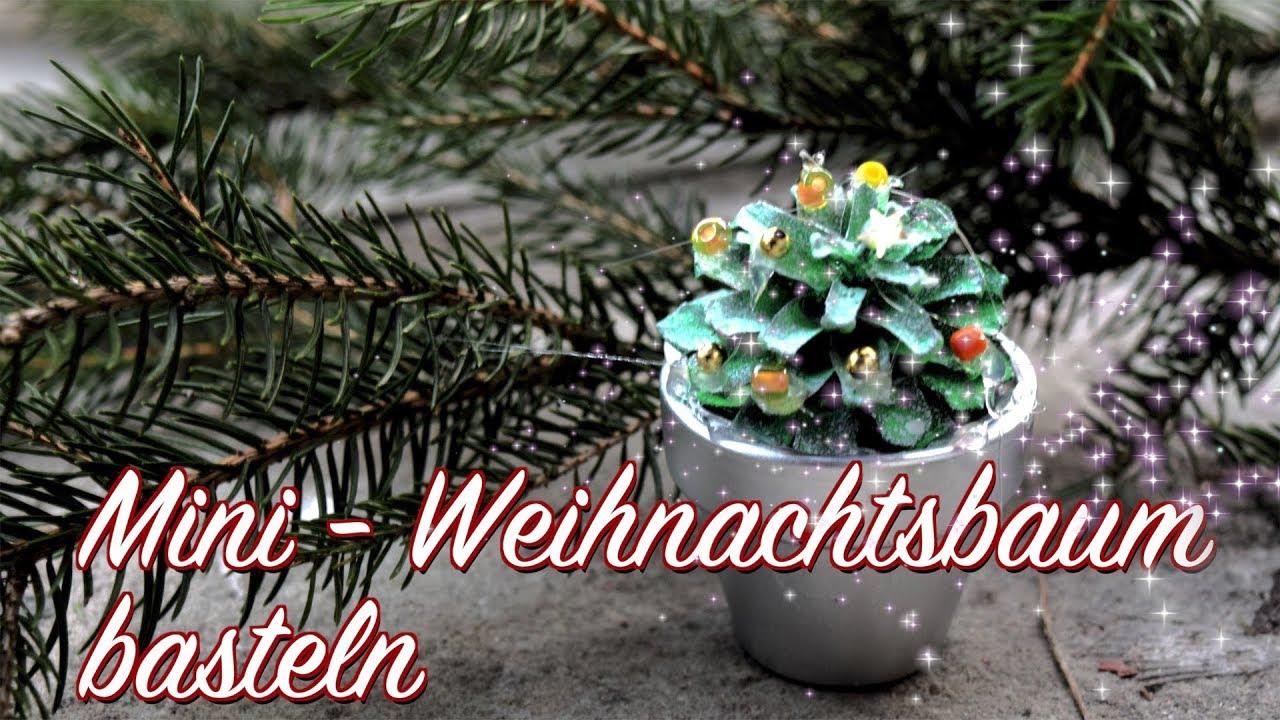 diy mini weihnachtsbaum deko basteln mit kindern advents weihnachtszeit youtube. Black Bedroom Furniture Sets. Home Design Ideas
