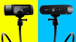 The TWO BEST Webcams For YouTube, Twitch & Streaming (1080p & 4K) | Logitech C920 & Logitech Brio