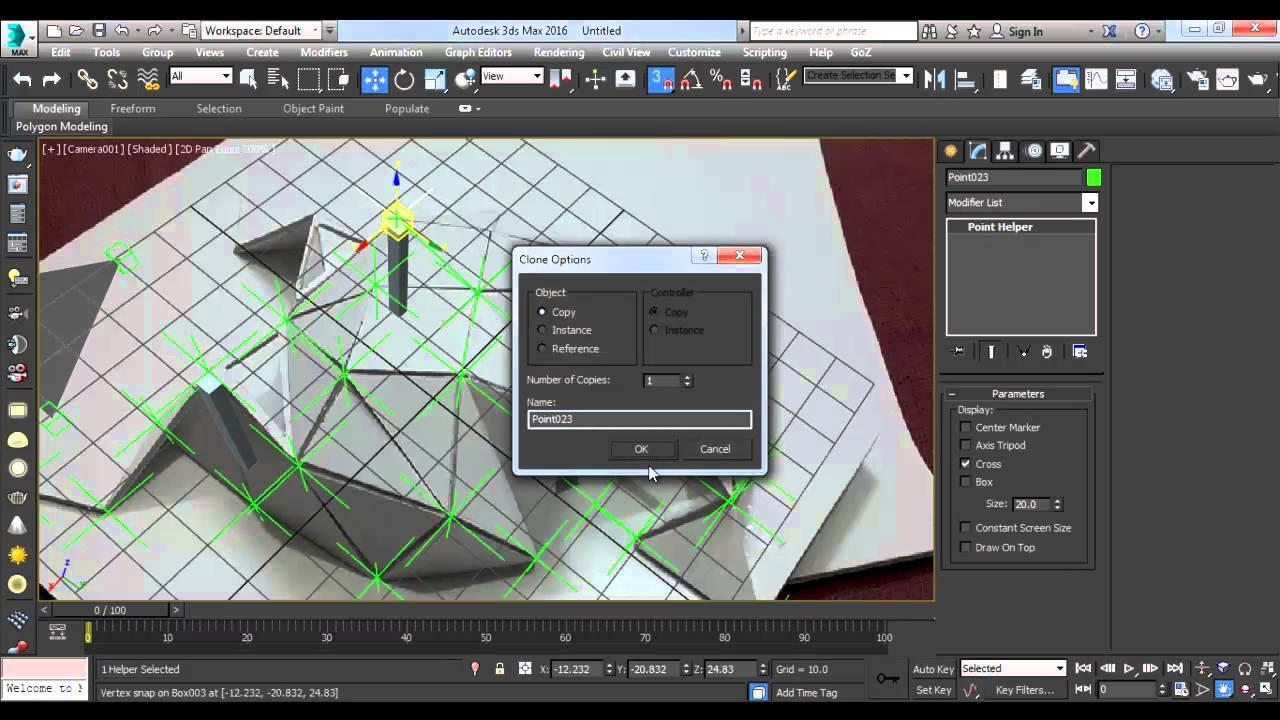 Origami Building Design Autodesk 3dsmax