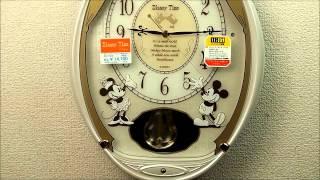 セイコー ディズニータイム 電波掛け時計 ミッキー&ミニー 電波振り子時計 FW567W Seiko Melodies in Motion Pendulum Wall Clock thumbnail