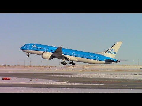 KLM Boeing 787-9 (PH-BHN) Takeoff at Calgary Int