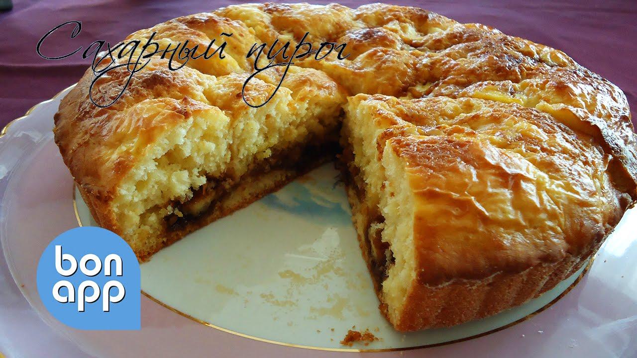Сахарный пирог со сливками рецепт