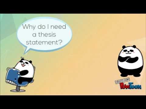 thesis statement cartoon