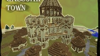 Minecraft - Gassoah Town [with schematic and download]