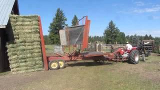 Hay Bale Wagon Unload