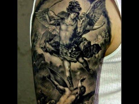 angel and demons tattoos design