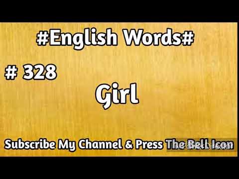 #English#Vocabulary #328 Girl English Word | Learn English Words | Mehran Series