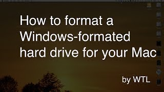 How to format a hard drive for Mac OS X