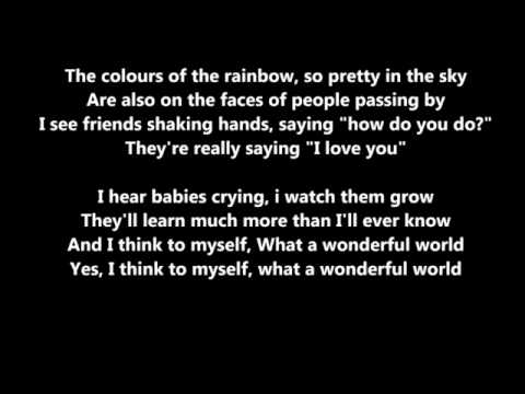 Michael buble - what a wonderful world - with lyrics