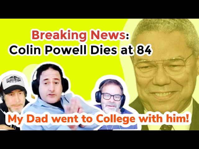 Breaking News Colin Powell Dies at 84! He was My Father's Friend!