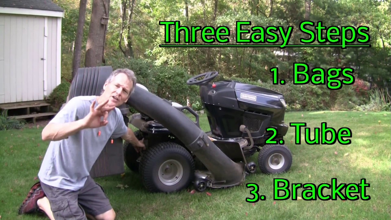 How To Install A Bagger To A Riding Lawn Mower Youtube