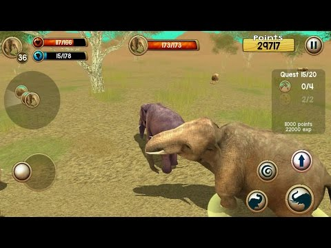 Wild Elephant Sim 3D Android Gameplay #4