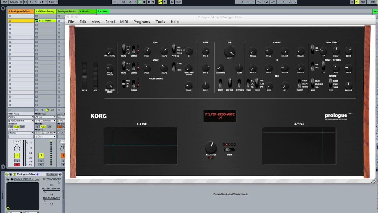 Korg Prologue Editor / Controller