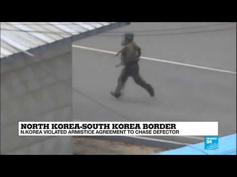 Video Shows North Korean Soldiers Violating Armistice Agreement To Chase Defector