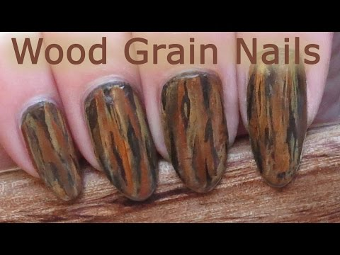 Easy One-Stroke Wood Grain Nail Art Tutorial