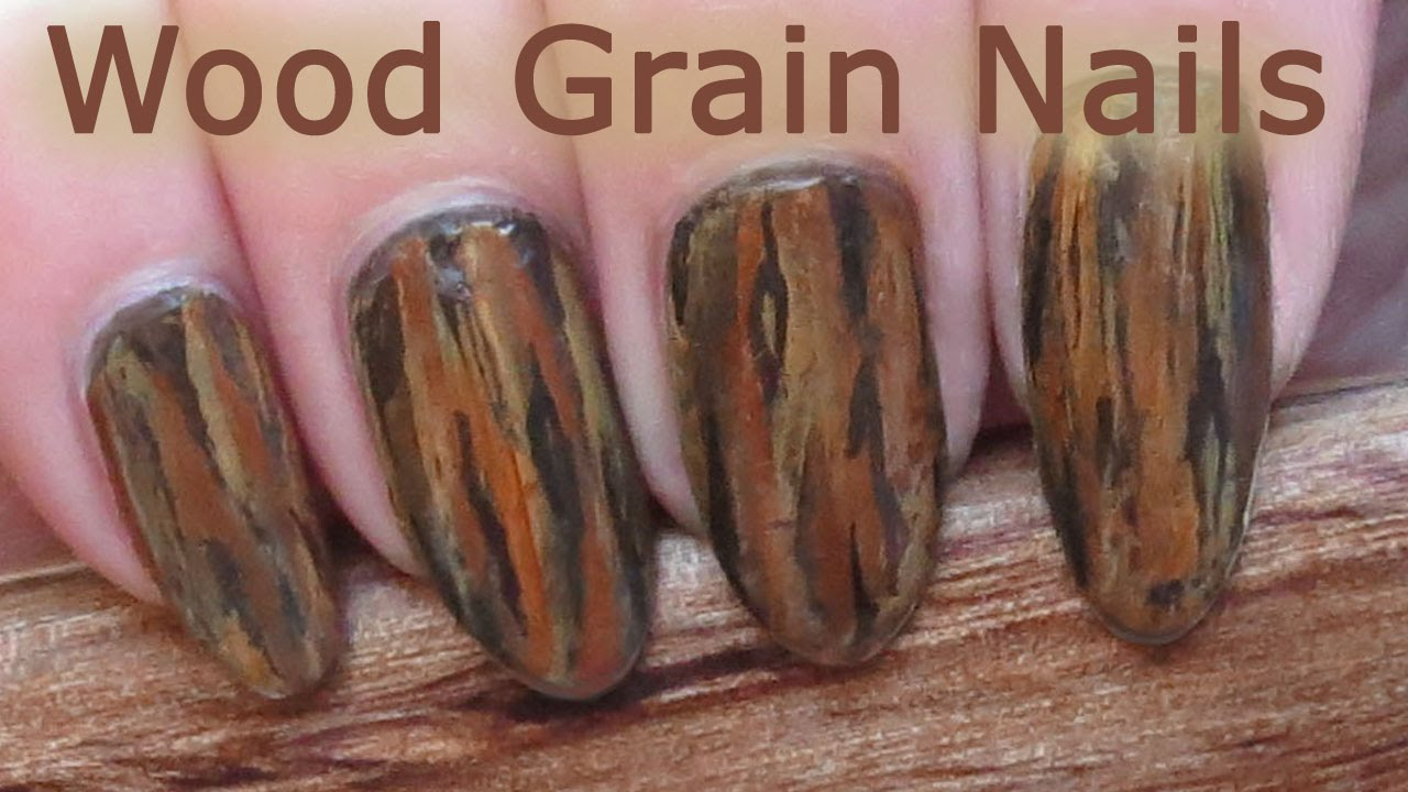 Easy One-Stroke Wood Grain Nail Art Tutorial - YouTube