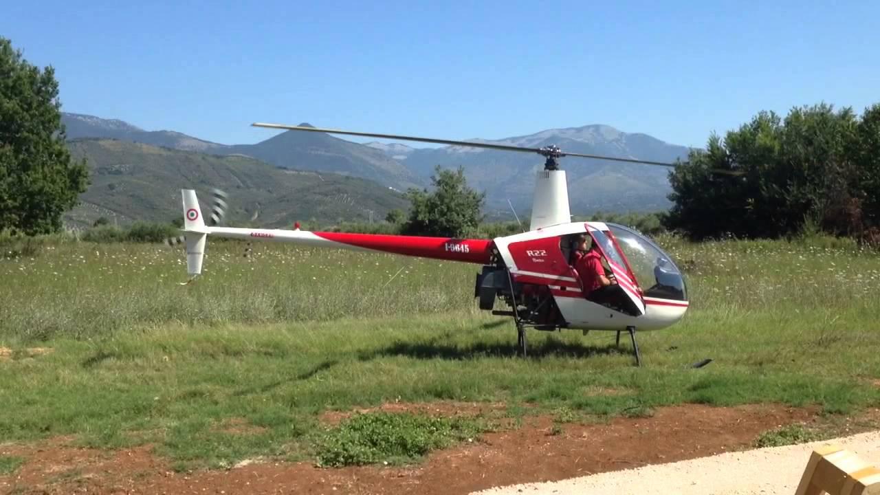 Elicottero R22 : Decollo robinson r elicottero youtube