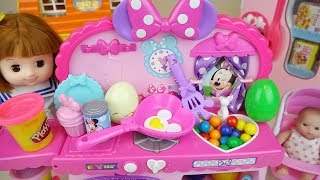 Baby doll and play doh kitchen food surprise toys BabyDoli play thumbnail