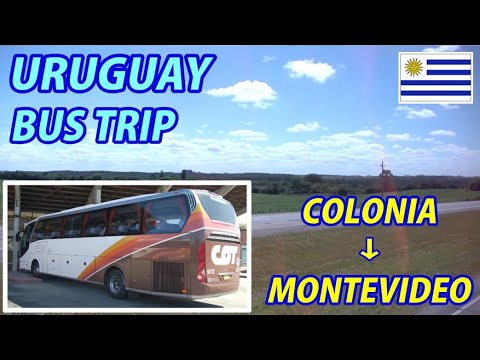 BUS TRIP Colonia del Sacramento → Montevideo, Uruguay