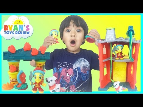 Thumbnail: PLAY DOH TOWN FIREHOUSE Toys for kids Playdough video Ryan ToysReview