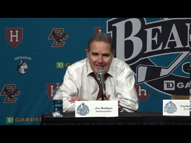 Best Of Jim Madigan Northeastern 2019 Beanpot Final Press Conference