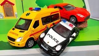 Мультики про машинки все серии. Скорая помощь и Полицейская машинка. Сборник мультфильмов для детей