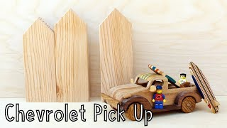 How To Make a Wooden Toy Chevrolet Pick Up Truck | Wooden Miniature - Wooden Creations