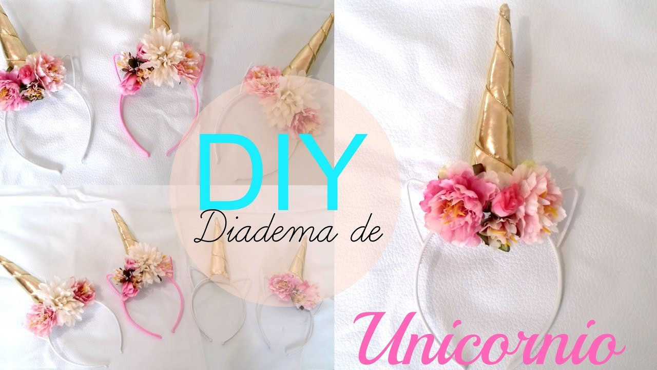 Diy Diadema De Unicornio Youtube