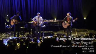 [HD] Kings of Convenience - Peacetime Resistance (New Song #6), Seoul 2008 Part 9